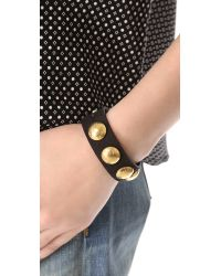 Rag & Bone - Black Clocher Bracelet - Lyst