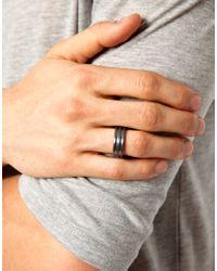 Seven London - Black Band Ring for Men - Lyst