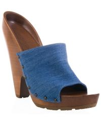 Stella McCartney | Blue Denim Giant Cone-heel Mule | Lyst