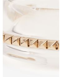 Valentino | Multicolor Studded Transparent Bangle | Lyst