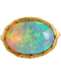 Anaconda - Blue Australian Opal George Ii Ring - Lyst