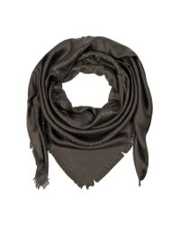 Fendi | Brown Fur Print Zucca Logo Square Scarf | Lyst