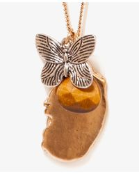 Forever 21 - Metallic Butterfly Charm Necklace - Lyst