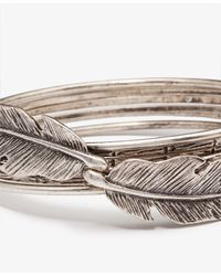 Forever 21 - Metallic Feather Bangle Set - Lyst