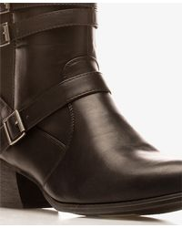 Forever 21 - Black Extended Calf Faux Leather Boots - Lyst