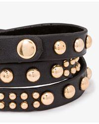 Forever 21 | Black Studded Wraparound Bracelet | Lyst