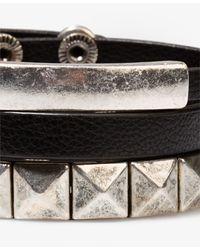 Forever 21 - Metallic Pyramid Stud Bracelet Set - Lyst