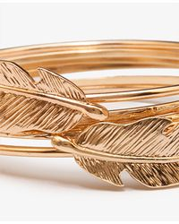 Forever 21 | Metallic Feather Bangle Set | Lyst