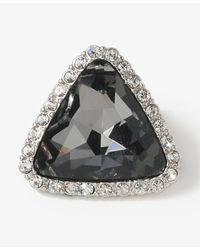 Forever 21 - Gray Faux Gem Triangle Studs - Lyst