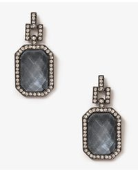 Forever 21 - Gray Bold Emerald Cut Earrings - Lyst