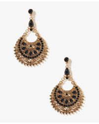 Forever 21 | Blue Goddess Crescent Earrings | Lyst