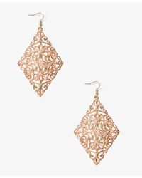 Forever 21 - Pink Painted Filigree Drop Earrings - Lyst
