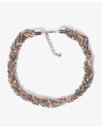 Forever 21 - Metallic Beaded Fringe Necklace - Lyst