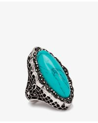 Forever 21 | Blue Etched Faux Turquoise Ring | Lyst