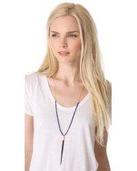 Kristen Elspeth - Blue Beaded Quill Necklace - Lyst