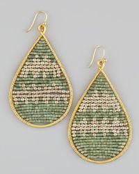 Nakamol - Green Beaded Teardrop Earrings - Lyst