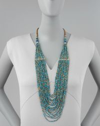 Nakamol - Green Tiered Multistrand Bead Necklace - Lyst