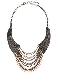 TOPSHOP - Pink Spike Chain Collar By Cjg - Lyst