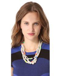Venessa Arizaga - White Heart Of Glass Necklace - Lyst