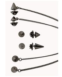Forever 21 - Black Spiked Collar Chain Set for Men - Lyst