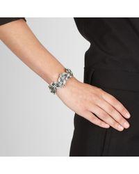 Bottega Veneta - Metallic Intrecciato Antique Silver Cuff - Lyst