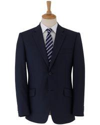 Paul Costelloe | Blue Mini Herringbone Suit Jacket for Men | Lyst