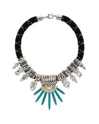 TOPSHOP - Black Premium Tusk Rhinestone Collar - Lyst