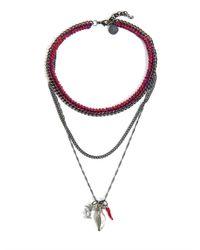 Venessa Arizaga - Blue Into Dust Multichain Necklace - Lyst