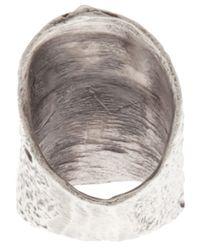 Alice Waese - Metallic Tall Barking Ring for Men - Lyst