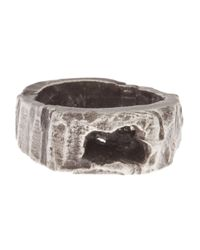 Alice Waese | Metallic Carved Round Ring for Men | Lyst