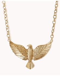Forever 21 | Metallic Etched Eagle Necklace | Lyst