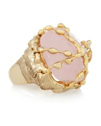 Rosantica | Pink Regale Golddipped Chalcedony Ring | Lyst
