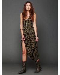 Free People | Green Waikiki Wrap Dress | Lyst