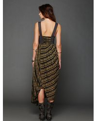 Free People - Green Waikiki Wrap Dress - Lyst