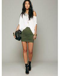 Free People | Green Womens High Waist Scrunch Skirt | Lyst