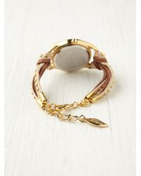 Sara Designs - Metallic Studded Watch Bracelet - Lyst
