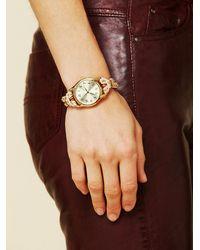 Sara Designs - Metallic Studded Watch Bracelet - Lyst