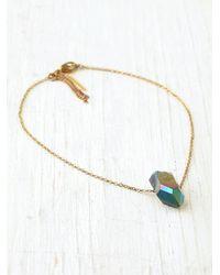 Free People - Metallic Charm Ankle Bracelet - Lyst