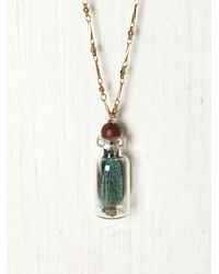 Free People | Metallic Trapped in A Bottle Necklace | Lyst