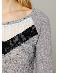 Free People | Gray We The Free Mix Up Hacci Tee | Lyst