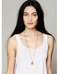 Free People - Brown Seasonal Moon Necklace - Lyst