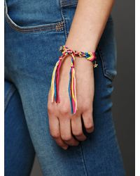 Free People - Pink Studded Friendship Bracelet - Lyst