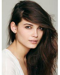 N/a | Metallic Meaningful Crystal Stud Earrings | Lyst