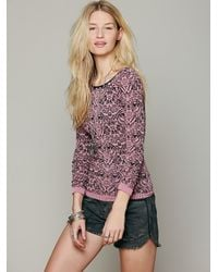 Free People | Pink Poncho Mama | Lyst