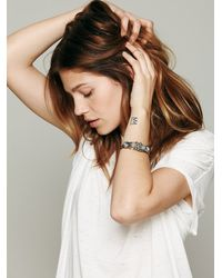 Free People - Metallic Trapped Crystal Cuff - Lyst