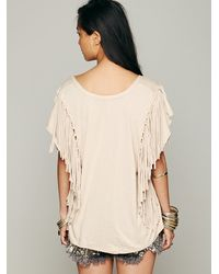 Free People | Natural Fantasy Fringe Tee | Lyst
