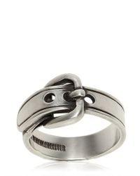 Ann Demeulemeester - Metallic Silver Buckle Ring for Men - Lyst