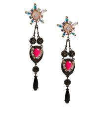 ASOS - Multicolor Flower Chandelier Swing Earrings - Lyst