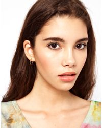ASOS - Multicolor Two Tone Hoop Earring - Lyst