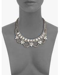 DANNIJO - Metallic Viktor Swarovski Crystal Mini Bib Necklace - Lyst